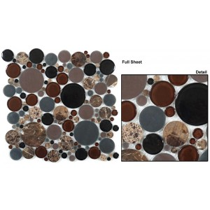 "Bubble Full Sheet srs. BFS601 Twilight Mosaic 12"" x 12"" Set of 5 pcs."