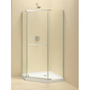 "Dreamline SHEN-2136360 Prism 36-1/8"" x 36-1/8"" Frameless Pivot Shower Enclosure"