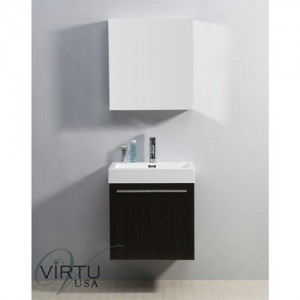"Virtu USA JS-50124-PL Midori 24"" Single Sink Bathroom Vanity - Vanity Top Included"