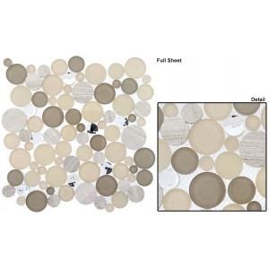 "Symphony Bubble Full Sheets srs. SBS1514 Whipped Cream Mosaic 12"" X 12"" 5 pcs."