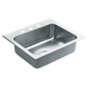 "Moen 22106 Commercial 30-2/5""L Stainless Steel 18 Gauge Single Bowl Sink"