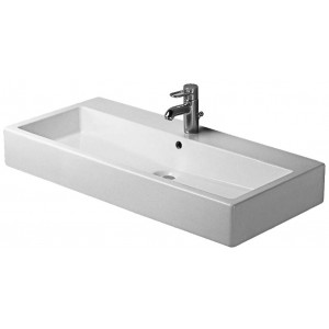 Duravit 045410 Vero 39-3/8 x 18-1/2 Inch Wide Lavatory Washbasin with WonderGliss