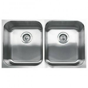 Blanco 440258 BlancoSpex Plus Equal Double Bowl One Piece Undermount Kitchen Sink