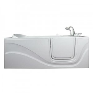 Lay Down 5 ft. x 30 in. Walk-In Right Drain Bathtub in White