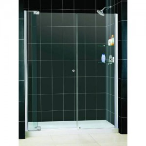 "Dreamline DL-6433C-01CL Allure 32"" x 60"" Center Drain Single Threshold Base Shower Package"