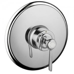 Hansgrohe 16508 Axor Montreux Pressure Balanced Valve Trim Only with Metal Lever Handle and Round Escutcheon