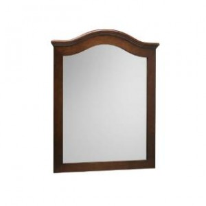 "RonBow 606030-F13 30"" x 38"" Marcello Style Wood Framed Mirror in Cafe Walnut"