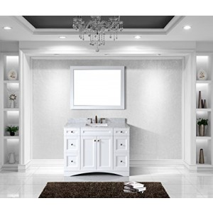 Virtu USA ES-32048-WMSQ-AWH Elise 48-Inch Single Bathroom Vanity Set, White