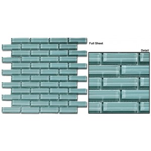 "Crystile srs. C07-2 Gray sky Mosaic 12"" x 12"" Set of 5 pcs."