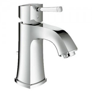 Grohe 23311 Grandera Single Handle Single Hole Bathroom Faucet with SilkMove Cartridge and Pop-Up Drain Assembly