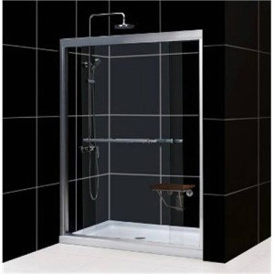 "Dreamline DL-6951L Duet 32"" x 60"" Left Drain Single Threshold Base Shower Package"