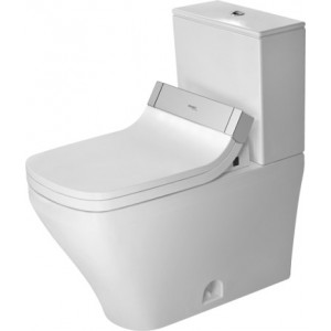 Duravit 216051 DuraStyle 14-1/8 x 27-1/2 Inch Elongated Two-Piece Toilet, Bowl Only