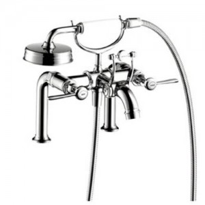 Hansgrohe 16552 Axor Montreux Rim Mount Roman Tub Filler Faucet with Metal Lever Handles and Hand Shower