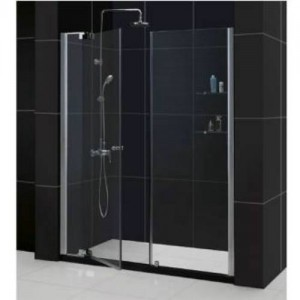 "Dreamline SHDR-4254728-01 Allure 54"" - 61"" Shower Door in Chrome/Clear with Any 60"" Single Threshold Simline Base (optional)"