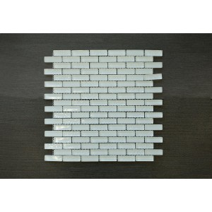 "Crystile Srs. D6 Snow Flake 12 3/4"" x 12 x 3/8"" Glass Mosaic (Set of 5 pcs.)"