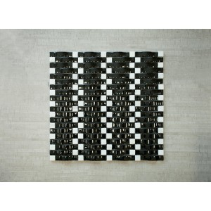 """3D Wave Srs. C9 Light In The Night 13 3/8"""" x 12"""" x Arch Glass, Stone Mosaic (Set of 5 pcs.)"""