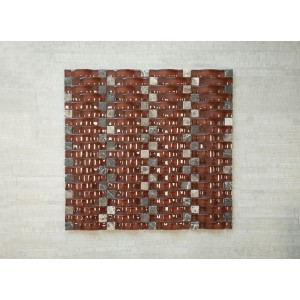 "3D Wave Srs. C11 Vetro Marmi 13 3/8"" x 12"" x Arch	 Glass, Stone Mosaic (Set of 5 pcs.)"