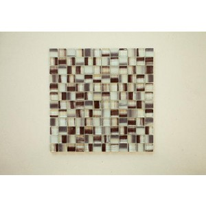 "New Art Trend Srs. A5 New Trend Art Brown (Square) 12 3/4"" x 11 3/4"" x 3/8"" Glass Mosaic (Set of 5 pcs.)"