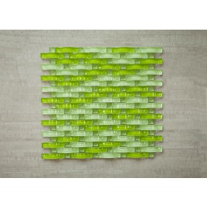 "3D Wave Srs. C2 Sea Wave 13 3/8"" x 12"" x Arch Glass Mosaic (Set of 5 pcs.)"