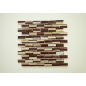 "New Art Trend Srs. A2 New Trend Art Brown (Brick) 12 3/4"" x 11 3/4"" x 3/8"" Glass Mosaic (Set of 5 pcs.)"