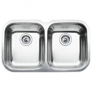 Blanco 440160 BlancoNiagara Equal Double One Piece Kitchen Sink