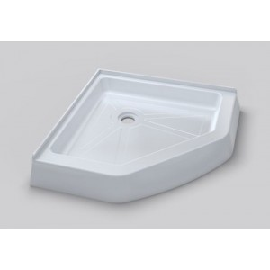 "ART OF BATH 38""x38""x6"" CORNER NEO-ANGLE ACRILYC SHOWER BASE DBN38 WHITE COLOR"