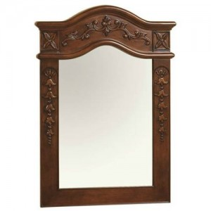 "RonBow 607224 Vintage 24"" x 34"" Bordeaux Wood Framed Mirror"