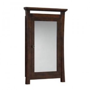 "RonBow 616025-F07 Pacific Rim 39"" Wood Framed Medicine Cabinet in Vintage Walnut"