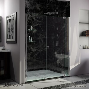 "Dreamline SHDR-4260728-01 Allure 60"" - 67"" Shower Door in Chrome/Clear"