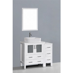 "42"" Bosconi AW130RC1S Single Vanity"