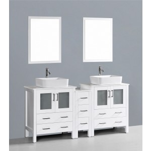 "72"" Bosconi AW230RC1S Double Vanity"