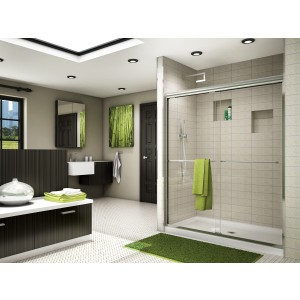 "Fleurco Banyo Cordoba Bypass 46"" x 70"" Semi-frameless Sliding Shower door"