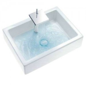 Duravit 230370 Starck 1 27-3/4 x 20-1/2 Inch Rectangular Furniture Wash Basin with WonderGliss