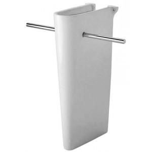 Duravit 0863510000 Starck 1 8-7/8 x 14-3/4 Inch Pedestal Model for Towel Rails for Washbasin 040575 and 040590