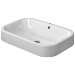 Duravit 231460 Happy D.2 23-5/8 Inch Deck Mounted Bathroom Sink with Overflow