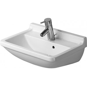 Duravit 030050 Starck 3 19-5/8 x 14-1/8 Inch Wash Basin with Overflow and Tap Platform