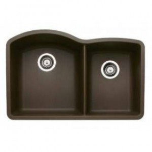 Blanco 440177 Diamond Cafe Brown 1 and 3/4 Bowl Silgranit Undermount Kitchen Sink