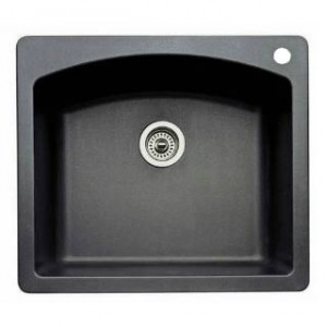 Blanco 440210 Diamond Anthracite Single Bowl Silgranit Drop In Kitchen Sink