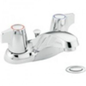 Moen 64970 Chateau Chrome 2 Handle Low Arc Bathroom Faucet