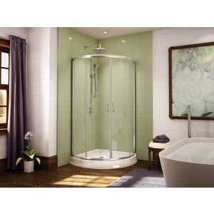 "Fleurco Signature Capri Arc 4 32"" x 70"" Curved Sliding Shower door"