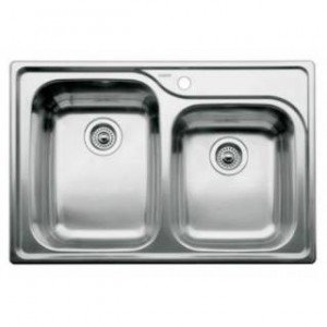 Blanco 440239 BlancoSupreme 1 and 3/4 Bowl One Piece Drop In Kitchen Sink