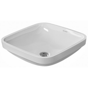 Duravit 037337 DuraStyle 14-5/8 x 14-5/8 Inch Drop In Bathroom Sink with Overflow