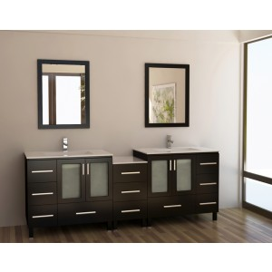"Design Element Galatian 88"" Double Sink Vanity Set DEC360-DS"