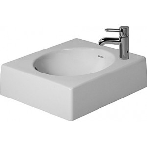 Duravit 03204200001 Architec 16-1/2 x 16-1/2 Inch Above Counter Basin with WonderGliss
