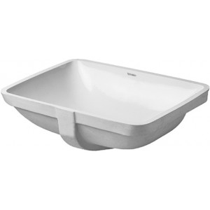 Duravit 0305490022 Starck 3 19-1/4 x 14-3/8 Inch Drop In Bathroom Sink Special Ground for Duravit Furniture with Overflow