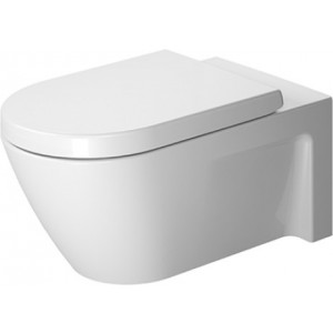 Duravit 253309 Starck 2 14-1/8 x 24-3/8 Inch Toilet Wall-Mounted, Washdown Model, Suitable for SensoWash Starck, Bowl Only