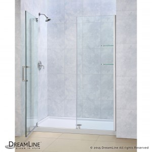 "Dreamline SHDR-4146720 Elegance 46"" - 48"" Frameless Pivot Shower Door"