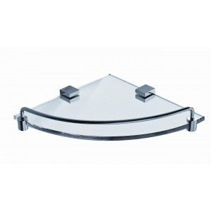 ART OF BATH SINGLE CORNER GLASS SHELF L0614