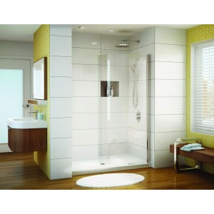 "Fleurco Banyo Siena Solo 38""x75"" Curved Pivot Shower shield door"