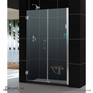 "Dreamline SHDR-20577210 Unidoor 57"" - 58"" Shower Door with Stationary Panel 30"""